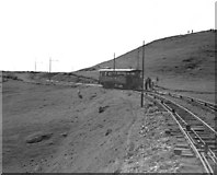 SH7683 : Great Orme Railway, Upper section passing loop by Dr Neil Clifton