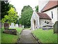 TG1904 : All Saints Church - churchyard by Evelyn Simak