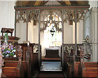 TG2202 : The church of St Remigius - C15 rood screen by Evelyn Simak