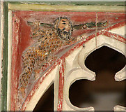 TG2202 : The church of St Remigius - C15 rood screen detail by Evelyn Simak