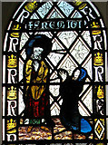 TG2202 : The church of St Remigius - C14 stained glass by Evelyn Simak