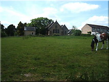 SK2566 : St Catherine's Church, Rowsley, with pony in field by Peter Barr