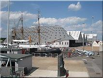 TQ7569 : HMS Gannet, Dry Dock 4, Chatham Dockyard, Kent by Oast House Archive