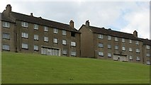 NS4962 : Derelict flats, Todholm Road by Richard Webb