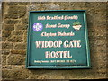SD9631 : Widdop Gate Hostel, Sign by Alexander P Kapp