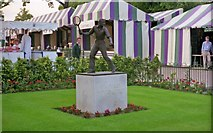 TQ2472 : Fred Perry statue at Wimbledon by Barry Shimmon