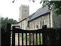TM1687 : St Margaret's Church - view across churchyard gate by Evelyn Simak