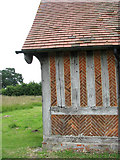 TM1582 : St George's Church - C15 timber framed north porch by Evelyn Simak