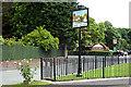 SJ4682 : Hale Village centre by Row17