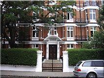 TQ2677 : Entrance to Fernshaw Mansions Fernshaw Road Chelsea by PAUL FARMER