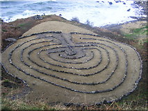 NS2515 : Labyrinth in Kennedy Park Dunure by Andrew Guthrie