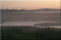 HP6312 : Daala mist over Haroldswick pool by Mike Pennington