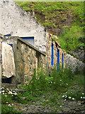 NJ8065 : Crovie: derelict cottage and alleyway by Martyn Gorman