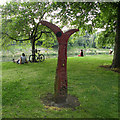 ST1776 : Millennium Milepost in Bute Park by Keith Edkins