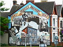 SU1585 : Mural, County Road, Swindon by Brian Robert Marshall