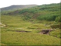 NM9823 : Bridge on access track by Patrick Mackie
