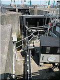 ST1972 : Lock mechanism, Cardiff Bay barrage by Keith Edkins