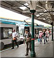 SJ7687 : Tram at Altrincham by Gerald England