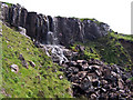 NG2141 : Eas Mor waterfall by Richard Dorrell