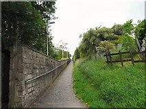 SK0296 : Footpath from Hadfield Station by Gerald England