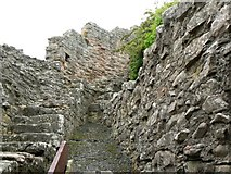 NT9953 : Berwick castle walls by James Allan