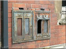 TL0450 : Old stamp machines, Dame Alice Street, Bedford by Rich Tea