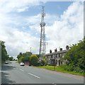 SE2029 : Houses and telecommunications mast, Westgate Hill Street, Tong by Humphrey Bolton