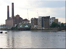 TQ2677 : Lots Road Power Station, Chelsea Wharf by Colin Smith