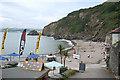 SX0952 : Fowey: beach at Polkerris by Martin Bodman