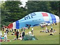 SK5339 : Wollaton Hall on Armed Forces Day RAF Balloon down by Andy Jamieson