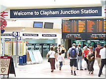 TQ2775 : Welcome to Clapham Junction Station by Colin Smith