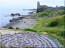 NS2515 : The Labyrinth at Kennedy Park Dunure by Andrew Guthrie
