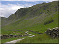NY4806 : Drove road heading up Long Sleddale by Nigel Brown