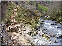 SH5946 : The fisherman's path, Aberglaslyn Pass by Phil Champion