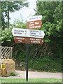 ST4302 : Broadwindsor: Cross Keys signpost by Chris Downer