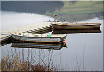 SK2086 : Fishing boats moored on Ladybower Reservoir by Pete Wise