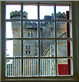 NZ0878 : Belsay Castle seen from the kennels by Andy F