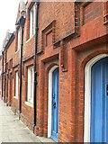 TL0450 : Doors of Almshouses, Dame Alice Street, Bedford by Rich Tea