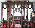 TM2397 : St Mary's church - C19 rood screen by Evelyn Simak