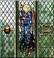 TM2397 : St Mary's church - war memorial window by Evelyn Simak
