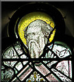 TM2397 : St Mary's church - medieval grisaille glass by Evelyn Simak