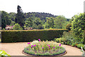NZ0878 : Terrace in formal gardens, Belsay Hall by Andy F