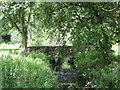 NZ2815 : Footbridge over Cocker Beck Darlington by peter robinson