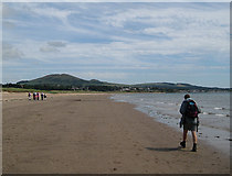 NO3901 : Walkers on the sand at Leven by Lis Burke