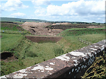 NS6439 : Disused railway, and Snabe sand quarry, Burnbank Moss, Lanarkshire by Donald MacDonald