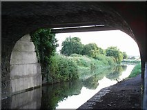 N8740 : Royal Canal from under Allen Bridge, Kilcock, Co. Kildare by JP