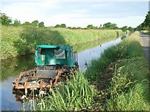 N7941 : Weed cutting boat on the Royal Canal, near Enfield, Co. Meath by JP