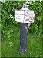 SJ6869 : Trent and Mersey Canal Milepost by Mike W Hallett