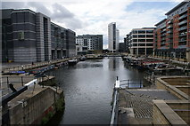 SE3032 : Royal Armouries and Clarence Dock by Nigel Homer