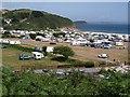 SX0146 : Caravan and camping park, Pentewan by Derek Harper